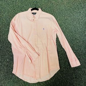 Orange/White Stripe Button Men's Ralph Lauren L